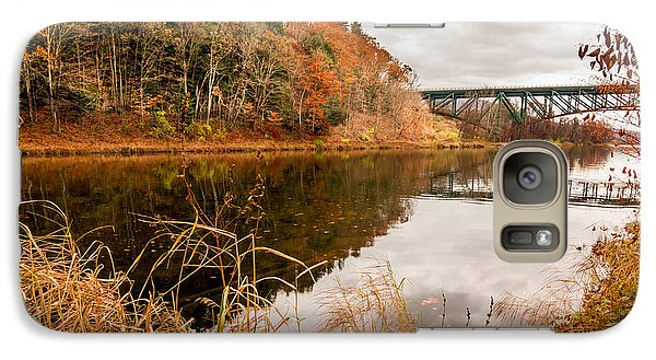 Galaxy Case featuring the photograph West River At Interstate 91 by Jeremy Farnsworth