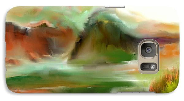 Galaxy Case featuring the painting West Texas by Jessica Wright
