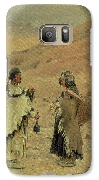 West Tibetans, 1875 Oil On Canvas Galaxy Case by Piotr Petrovitch Weretshchagin