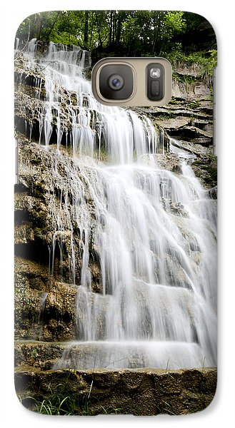 Galaxy Case featuring the photograph West Virginia Waterfall by Robert Camp
