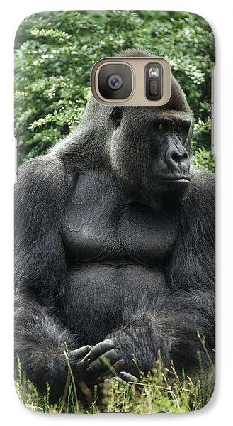 Western Lowland Gorilla Male Galaxy S7 Case by Konrad Wothe