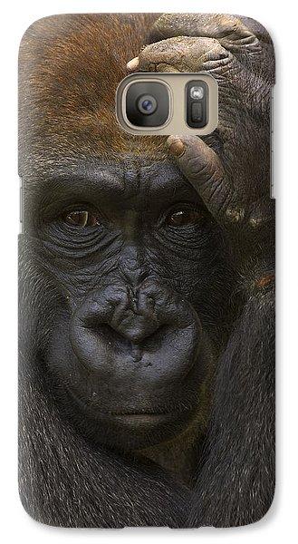 Western Lowland Gorilla With Hand Galaxy S7 Case by San Diego Zoo