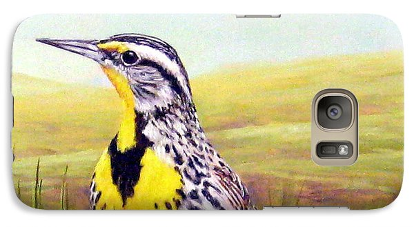 Western Meadowlark Galaxy Case by Tom Chapman