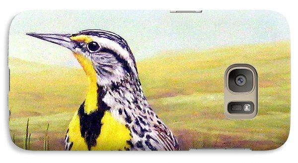 Western Meadowlark Galaxy S7 Case by Tom Chapman