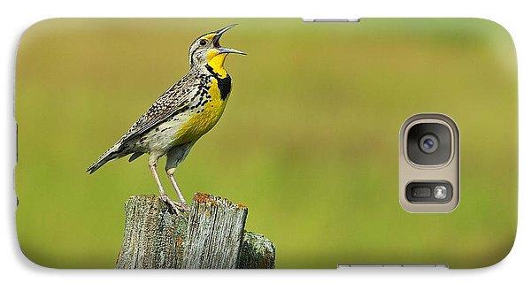 Western Meadowlark Galaxy S7 Case by Tony Beck