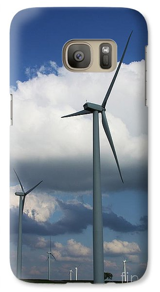 Galaxy Case featuring the photograph Western Oklahoma Wind Farm by Jim McCain