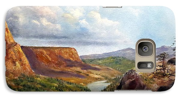 Galaxy Case featuring the painting Western River Canyon by Lee Piper