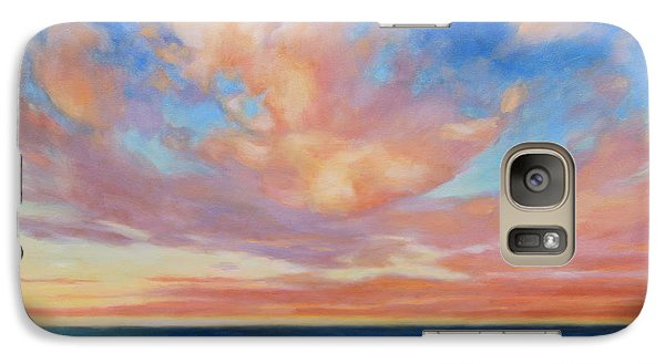 Galaxy Case featuring the painting Western Skys by Andrew Danielsen