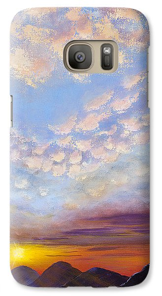 Galaxy Case featuring the painting Western Sunset by Margaret Bobb
