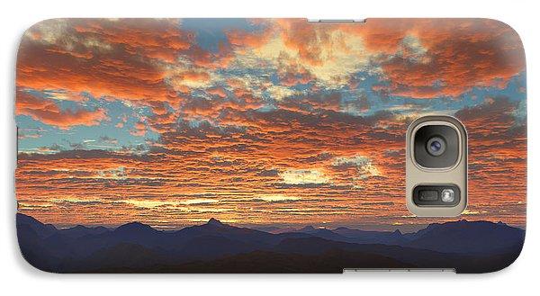 Galaxy Case featuring the digital art Western Sunset by Mark Greenberg