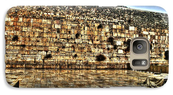 Galaxy Case featuring the photograph Western Wall In Israel by Doc Braham