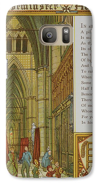 Westminster Abbey Galaxy S7 Case by British Library