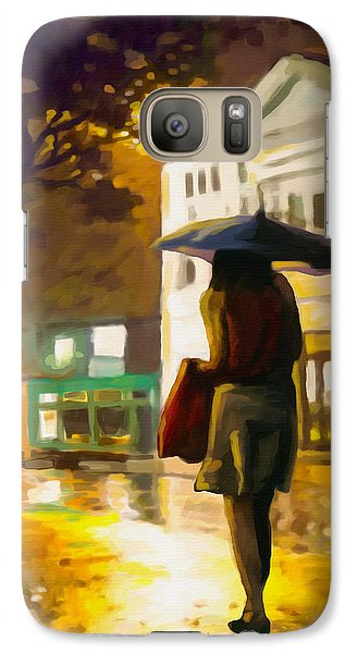 Galaxy Case featuring the painting Wet Night by Anthony Mwangi