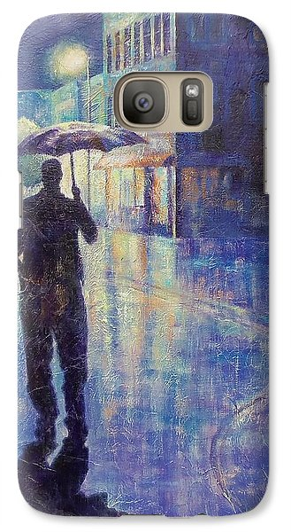 Galaxy Case featuring the painting Wet Night by Susan DeLain