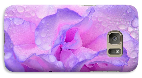 Galaxy Case featuring the photograph Wet Rose In Pink And Violet by Nareeta Martin