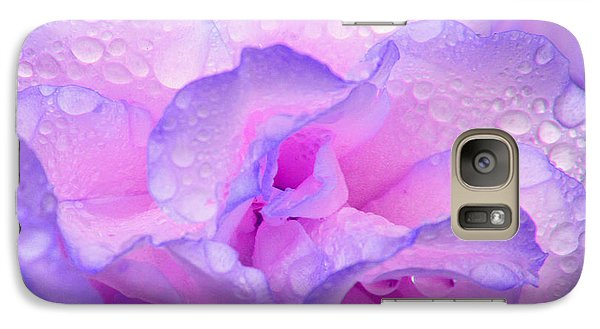 Wet Rose In Pink And Violet Galaxy S7 Case