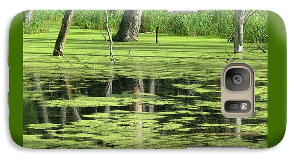 Galaxy Case featuring the photograph Wetland Reflection by Ann Horn