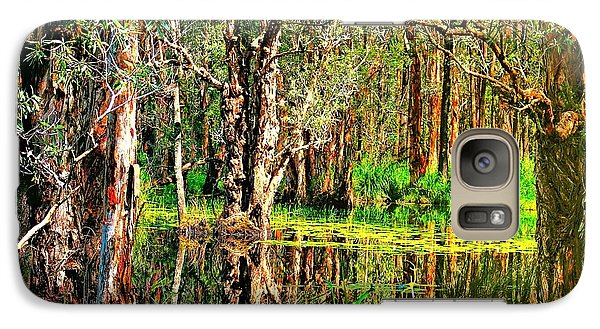 Galaxy Case featuring the photograph Wetland Reflections by Wallaroo Images
