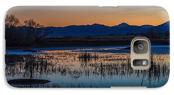 Galaxy Case featuring the photograph Wetland Twilight by Beverly Parks