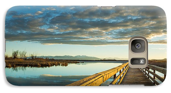 Galaxy Case featuring the photograph Wetland Wooden Path by Jeremy Farnsworth