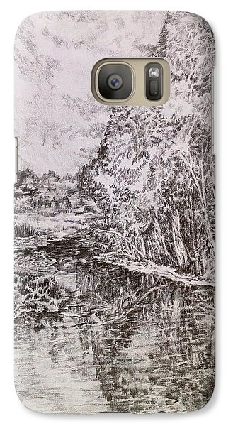 Galaxy Case featuring the drawing Wetlands by Iya Carson