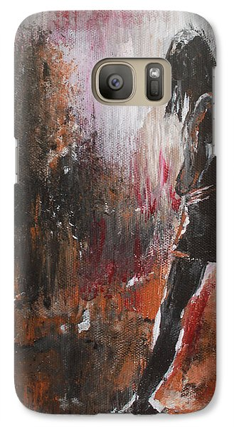 Galaxy Case featuring the painting We've Got Your Back by Lucy Matta
