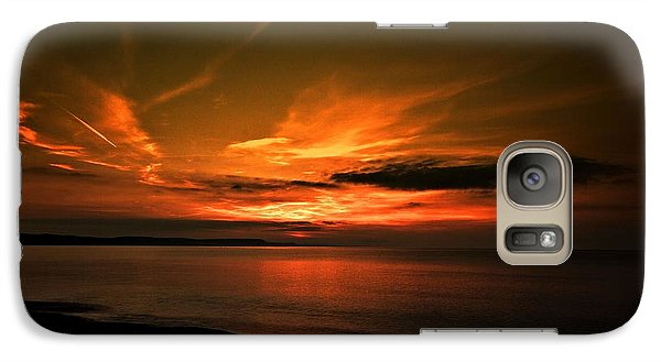 Galaxy Case featuring the photograph Weymouth  Golden Sunrise by Baggieoldboy