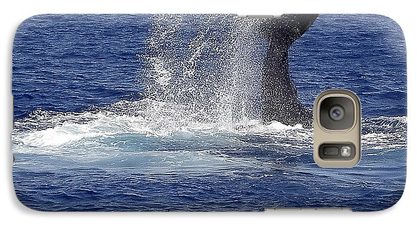 Galaxy Case featuring the photograph Whale Tale Splash by Penny Lisowski