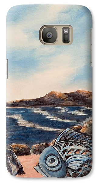 Galaxy Case featuring the painting What Did You Say? by Susan Culver