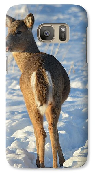Galaxy Case featuring the photograph What Do You Think This Deer Is Saying? by Dacia Doroff