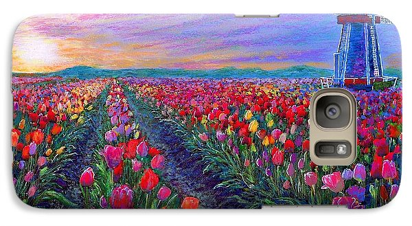 Tulip Fields, What Dreams May Come Galaxy S7 Case by Jane Small