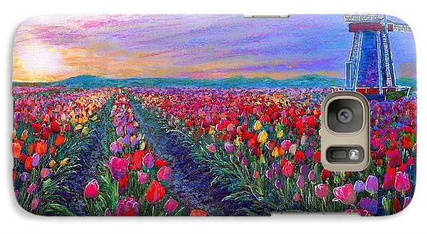 Tulip Galaxy S7 Case -  Tulip Fields, What Dreams May Come by Jane Small