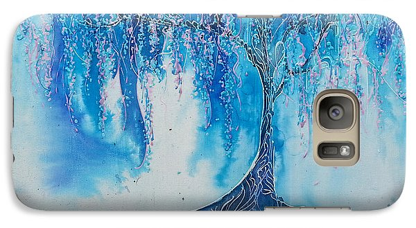 Galaxy Case featuring the painting What Dreams May Come by Christy  Freeman