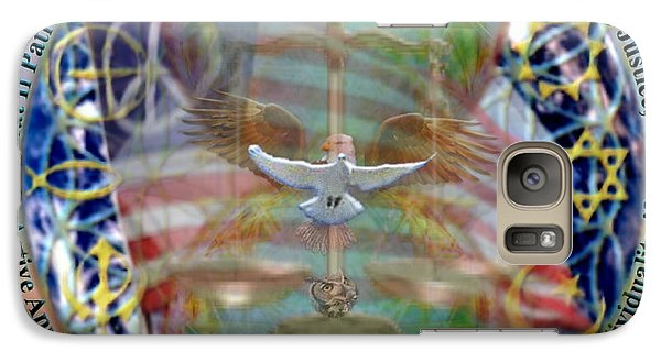 Galaxy Case featuring the digital art What If Balance Was Patriotism Lrg by Christopher Pringer