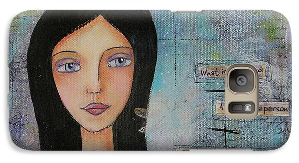 Galaxy Case featuring the painting What Is A Friend # 2 by Nicole Nadeau
