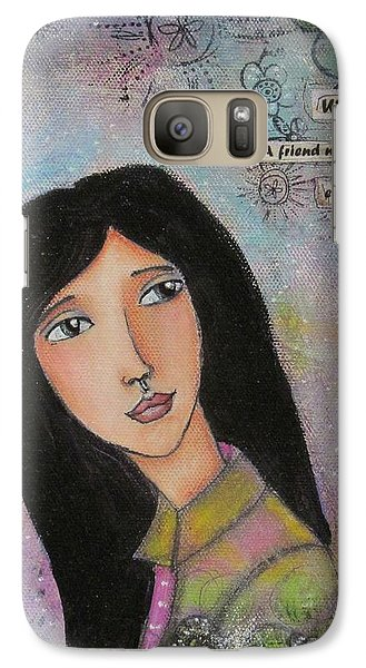 Galaxy Case featuring the painting What Is A Friend ? by Nicole Nadeau