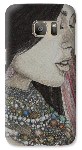 Galaxy Case featuring the mixed media What Is Beauty by Malinda  Prudhomme
