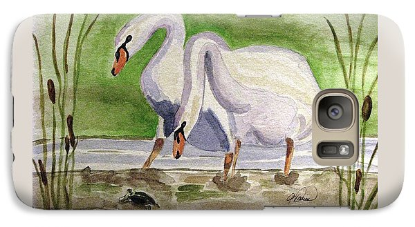 Galaxy Case featuring the painting What Is It by Angela Davies