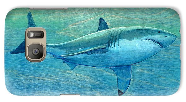 Sharks Galaxy S7 Case - What Lurks Below by Nathan Ledyard