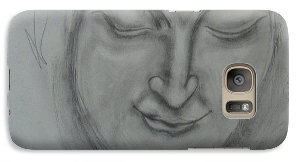 Galaxy Case featuring the drawing What Must It Be by Sharyn Winters