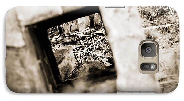 Galaxy Case featuring the photograph What Remains by Amber Kresge