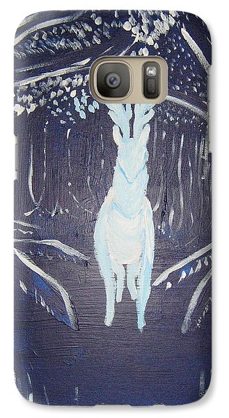 Galaxy Case featuring the painting What Walks These Woods by Wendy Coulson