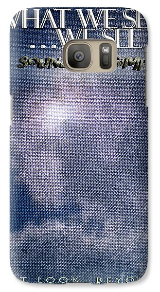 Galaxy Case featuring the photograph What We See We See by Vicki Ferrari