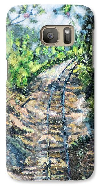 Galaxy Case featuring the painting What's Around The Bend? by Michael Daniels