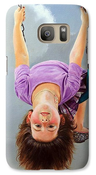 Galaxy Case featuring the painting What's Up? by Glenn Beasley