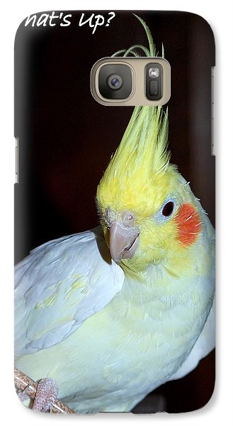 Galaxy Case featuring the photograph What's Up? by Mary Beth Landis