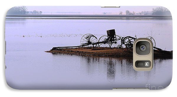 Galaxy Case featuring the photograph Wheat Field Under Water by Steve Augustin