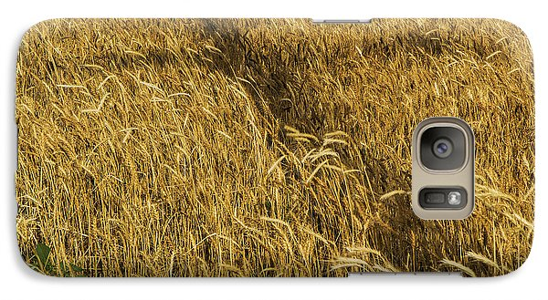 Galaxy Case featuring the photograph Wheat With Cross  by Rob Graham