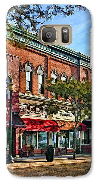 Wheaton Front Street Stores Galaxy S7 Case by Christopher Arndt