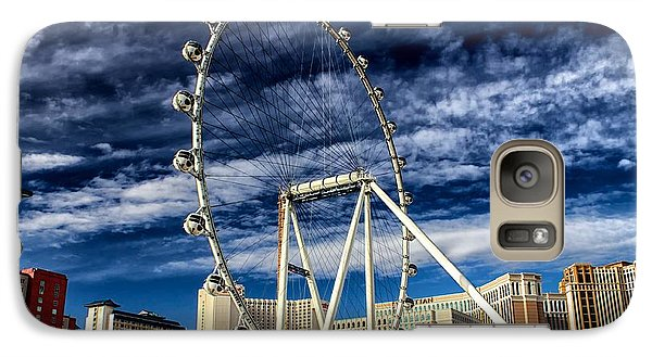 Galaxy Case featuring the photograph Wheel In The Sky Las Vegas by Michael Rogers